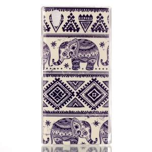 Softy gelový obal na mobil Lenovo P70 - sloni - 1