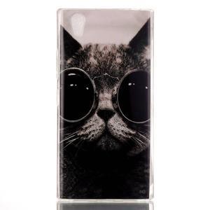 Softy gelový obal na mobil Lenovo P70 - cool kočka - 1