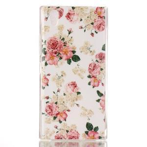 Softy gélový obal pre mobil Lenovo P70 - kvetiny - 1