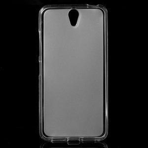 Matný gélový obal pre mobil Lenovo Vibe S1 - Transparentný - 1