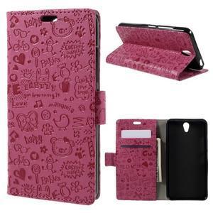 Cartoo peňaženkové puzdro pre Lenovo Vibe S1 - rose - 1