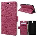 Cartoo peňaženkové puzdro pre Lenovo Vibe S1 - rose - 1/7
