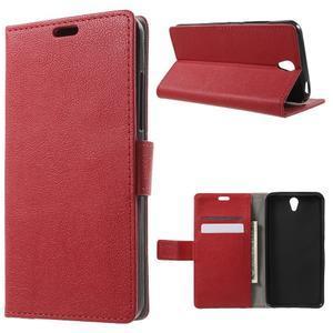 Peňaženkové puzdro pre mobil Lenovo Vibe S1 - červené - 1