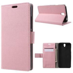 Peňaženkové puzdro pre mobil Lenovo Vibe S1 - ružové - 1