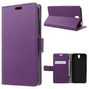Peňaženkové puzdro pre mobil Lenovo Vibe S1 - fialové - 1