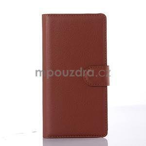 hnedé peňaženkové puzdro Lenovo Vibe X2 - 1
