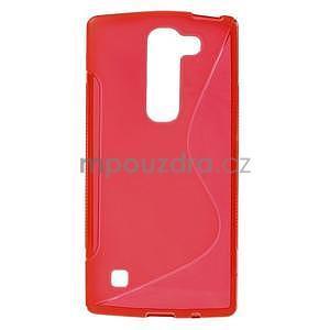 S-line gélový obal pre LG Spirit 4G LTE - červený - 1