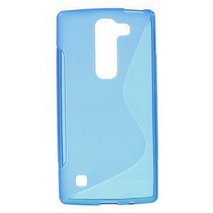 S-line gélový obal pre LG Spirit 4G LTE - modrý - 1