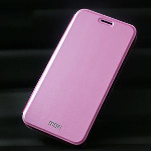 Vintage PU kožené pouzdro na mobil Meizu M3 note - růžové - 1