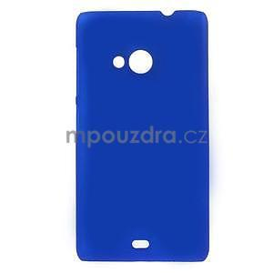 Modré pogumované plastové puzdro Microsoft Lumia 535 - 1