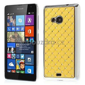 Drahokamový kryt na Microsoft Lumia 535 - žltý - 1