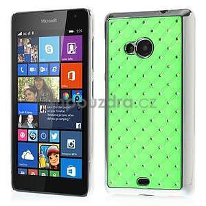 Drahokamový kryt na Microsoft Lumia 535 - zelený - 1
