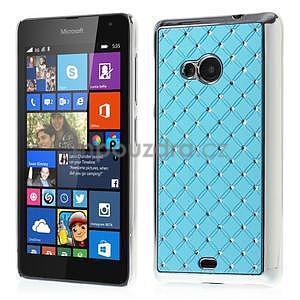 Drahokamový kryt na Microsoft Lumia 535 - světle modrý - 1