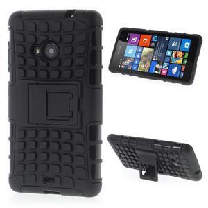 Vysoce odolný obal pre Microsoft Lumia 535 - čierny - 1