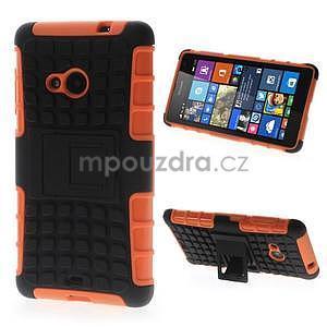 Vysoce odolný obal pre Microsoft Lumia 535 - oranžový - 1