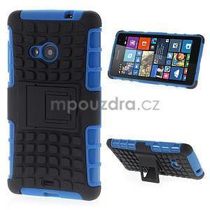 Vysoce odolný obal pre Microsoft Lumia 535 - modrý - 1