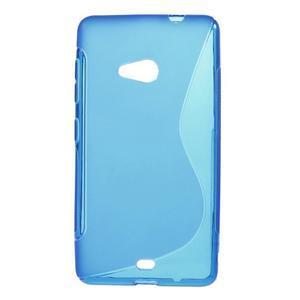 Gélový obal na Microsoft Lumia 535 - modrý - 1