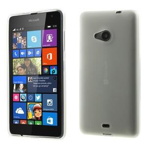 Matný gélový obal Microsoft Lumia 535 - biely - 1