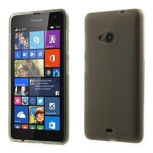 Matný gélový obal Microsoft Lumia 535 - sivý - 1