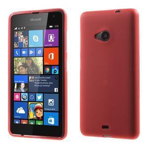 Matný gélový obal Microsoft Lumia 535 - červený - 1