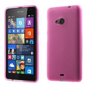 Matný gélový obal Microsoft Lumia 535 - rose - 1