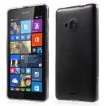 Ultra tenký kožený kryt pre Microsoft Lumia 535 - čierny - 1/6