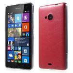 Ultra tenký kožený kryt pre Microsoft Lumia 535 - červený - 1/5