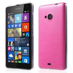 Ultra tenký kožený kryt na Microsoft Lumia 535 - rose - 1