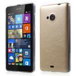 Ultra tenký kožený kryt na Microsoft Lumia 535 - champagne - 1/6