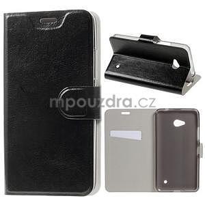 Čierné peňaženkové puzdro na Microsoft Lumia 640 LTE - 1