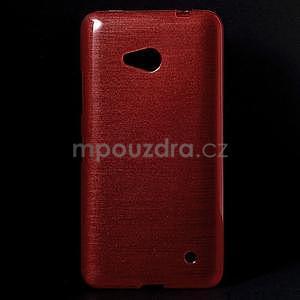 Broušený gélový obal na Microsoft Lumia 640 LTE - červený - 1