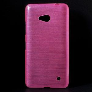 Broušený gélový obal na Microsoft Lumia 640 LTE - rose - 1