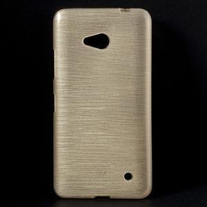 Broušený gélový obal na Microsoft Lumia 640 LTE - champagne - 1