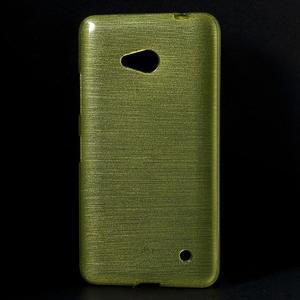 Broušený gélový obal na Microsoft Lumia 640 LTE - zelený - 1