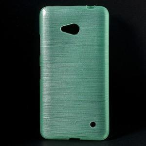 Broušený gélový obal na Microsoft Lumia 640 LTE - cyan - 1