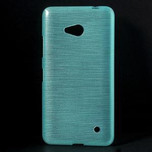 Broušený gélový obal na Microsoft Lumia 640 LTE - modrý - 1