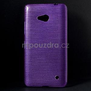 Broušený gélový obal na Microsoft Lumia 640 LTE - fialový - 1