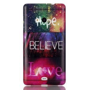 Soft gélový obal pre mobil Microsoft Lumia 535 - láska - 1