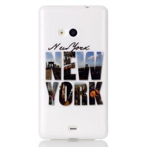 Soft gélový obal pre mobil Microsoft Lumia 535 - New York - 1