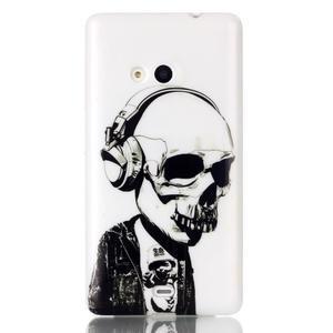 Soft gélový obal pre mobil Microsoft Lumia 535 - skull - 1