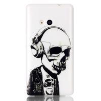 Soft gélový obal pre mobil Microsoft Lumia 535 - skull - 1/3