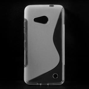 S-line gélový obal na mobil Microsoft Lumia 550 - transparentný - 1