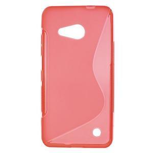 S-line gélový obal pre mobil Microsoft Lumia 550 - červený - 1