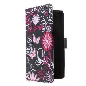 Cross peňaženkové puzdro pre Huawei Honor 7 - čarovné motýľe - 1
