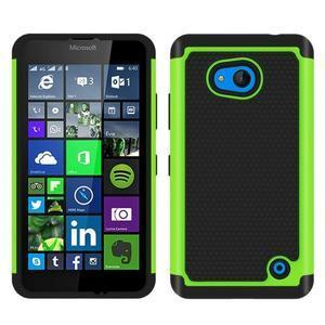 Odolný hybrdiní kryt na mobil Microsoft Lumia 640 - zelený - 1