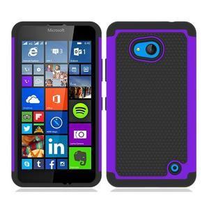 Odolný hybrdiní kryt na mobil Microsoft Lumia 640 - fialový - 1