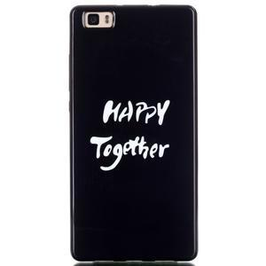 Gelový obal na mobil Huawei Ascend P8 Lite - happy - 1