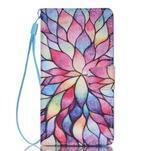 Peňaženkové puzdro Huawei Ascend P8 Lite - kvetinové lístky - 1/7