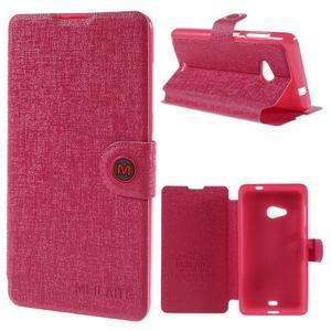 Solid puzdro pre mobil Microsoft Lumia 535 - rose - 1