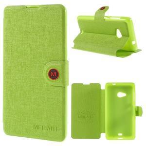 Solid puzdro na mobil Microsoft Lumia 535 - zelené - 1